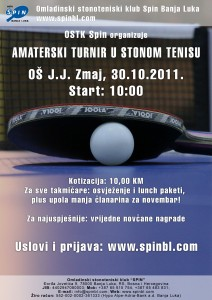 Amaterski turnir u stonom tenisu 2011